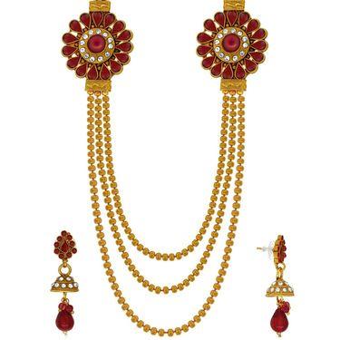 Spargz Brass Metal Necklace Set_Ains096