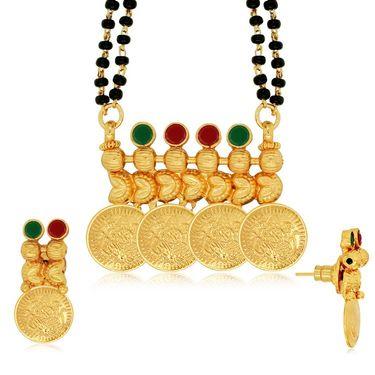 Spargz Brass Metal Mangalsutra Set_Aims092
