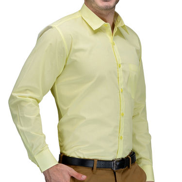 Being Fab Cotton Formal Shirt_Bfs14 - Yellow