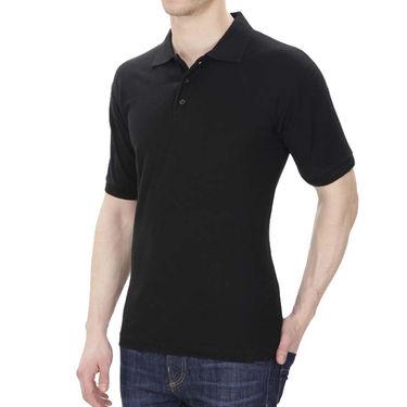 Pack of 2 Oh Fish Plain Polo Neck Tshirts_P2blkwht - Black & White