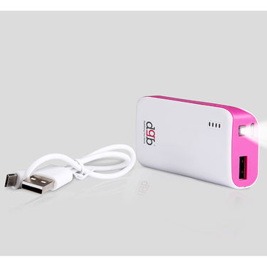 DGB Haflinger Berry PB-4800 Portable Power Bank 4400 mAh - White