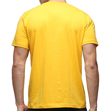 Effit Half Sleeves Round Neck Tshirt_Etscrnl003 - Yellow