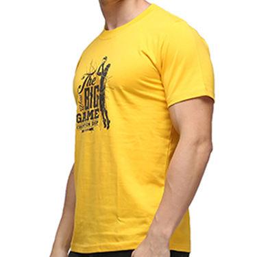 Effit Half Sleeves Round Neck Tshirt_Etscrnl012 - Yellow