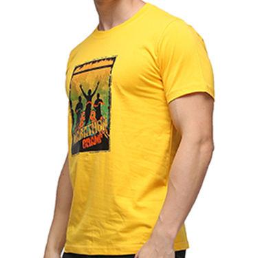 Effit Half Sleeves Round Neck Tshirt_Etscrnl014 - Yellow