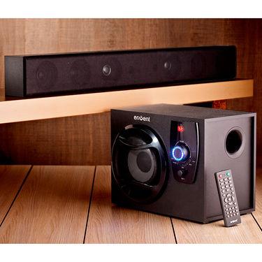 Envent Horizon TrueWood Soundbar with Woofer(Black)
