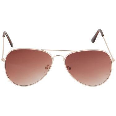 Alee Aviator Metal Unisex Sunglasses_Rs0202 - Brown