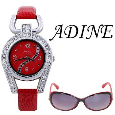 Combo of 1 Adine Wrist Watch For Women + 1 Sunglasses_AD50014