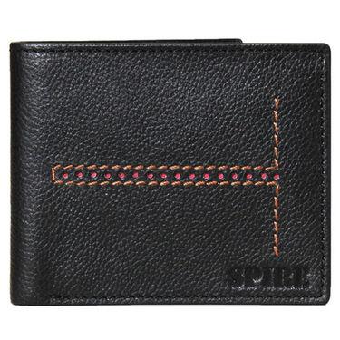 Spire Stylish Leather Wallet For Men_Smw102 - Black