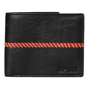 Spire Stylish Leather Wallet For Men_Smw114 - Black