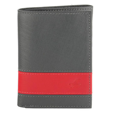 Fastrack Leather Wallets For Men_C0382lgy01 - Grey