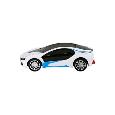 BMW i8 3D Remote Control Rechargeable Lightning Car Toy White
