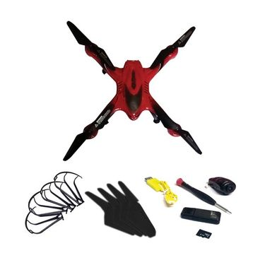 6 Axis Gyro Quadcopter  with a Key Return Headless Mode & Camera - Red