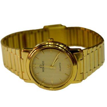 Branded Round Dial Analog Wrist Watch For Men_2305sm08 - Golden