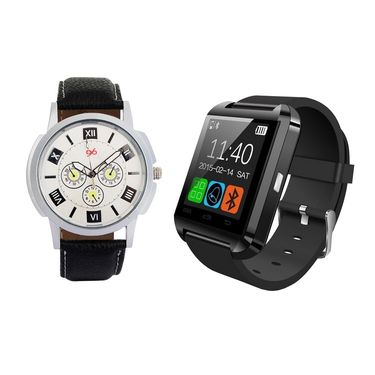 Combo of 1 Analog Watch + 1 Smart Watch_U8c02