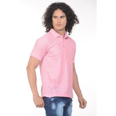 Plain Comfort Fit Blended Cotton TShirt_Ptlp - Light Pink
