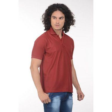 Plain Comfort Fit Blended Cotton TShirt_Ptgdm - Maroon
