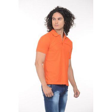 Plain Comfort Fit Blended Cotton TShirt_Ptgdo - Orange