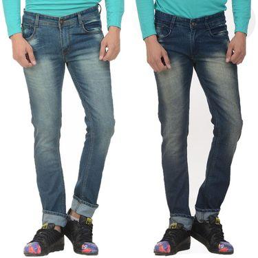 Pack of 2 Forest Plain Slim Fit Jeans_Jnfrt1014 - Blue