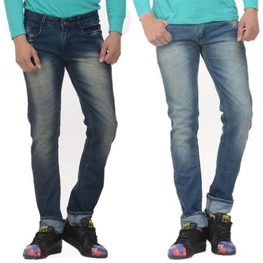 Pack of 2 Forest Plain Slim Fit Jeans_Jnfrt1415 - Blue