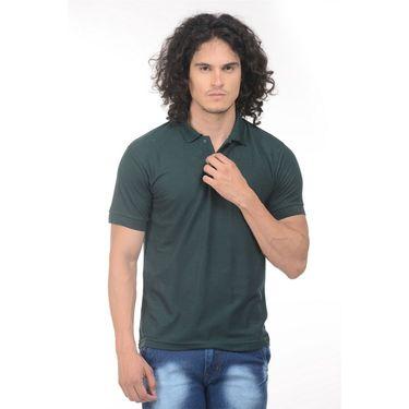 Pack of 2 Plain Regular Fit Tshirts_Ptgdgr - Green & Red