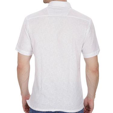 Fizzaro Plain Half Sleeves Stylish Shirt For Men_Fzls105 - White