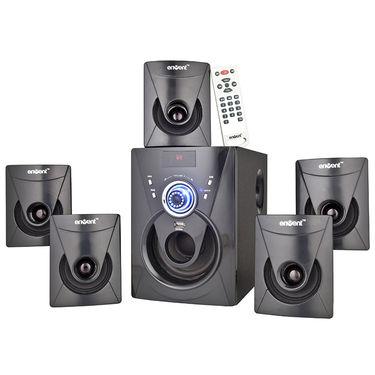 Envent DeeJay 702 BT Bluetooth 5.1 Multimedia Home Audio Speaker - Black