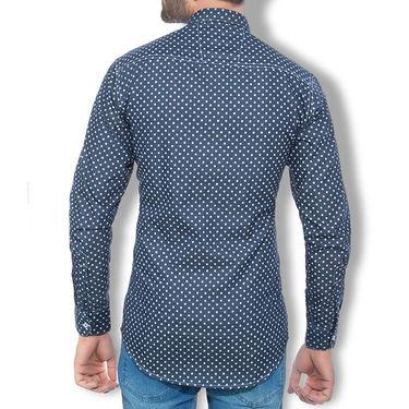 Branded Denim Cotton Shirt_Gkdss12 - Blue