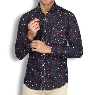 Branded Denim Cotton Shirt_Gkds07 - Multicolor