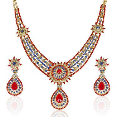 Kriaa Alloy Ethnic Necklace Set_2000121 - Multicolor