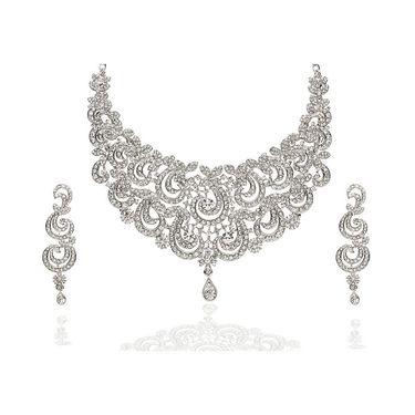 Kriaa Alloy Ethnic Necklace Set_2000302 - White