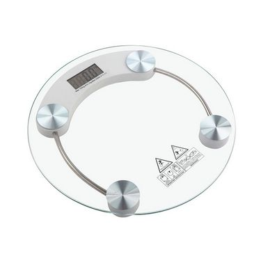 Thick Tempered Round Glass Digital Weighing Scale