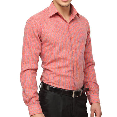 Copperline 100% Cotton Shirt For Men_CPL1195 - Red