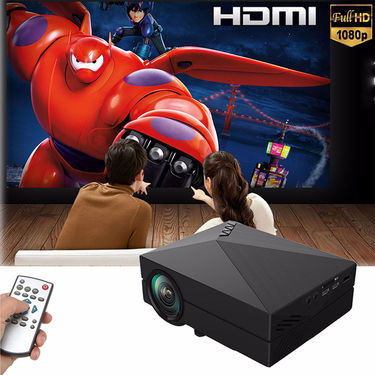 ZINGALALAA GM60 Mini Portable Home Cinema Theater LED Projector HD 1080P HDMI AV USB VGA SD