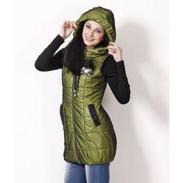 Yellow Tree Designer Polyester Green Sleeveless Jacket_Yt03