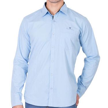 Branded Full Sleeves Cotton Shirt_R25klblu - Blue
