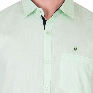 Branded Full Sleeves Cotton Shirt_R218kgreen - Green