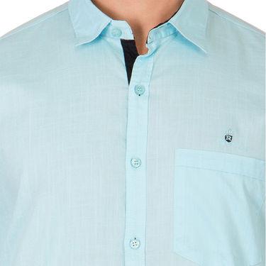 Branded Full Sleeves Cotton Shirt_R218klblu - Blue