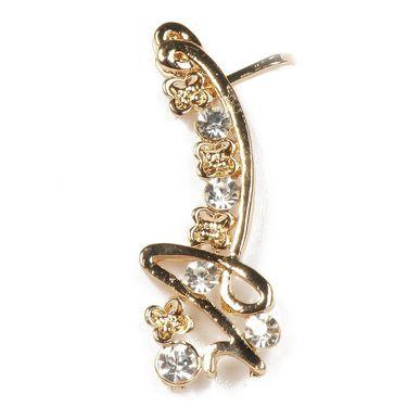 Urthn Austrian Diamond Single Ear Cuff_1302523