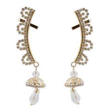 Kriaa Austrian Stone Jhumki Style Drop Ear Cuff_1303005
