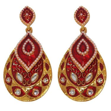 Kriaa Kundan Meenakari Earrings _1303126