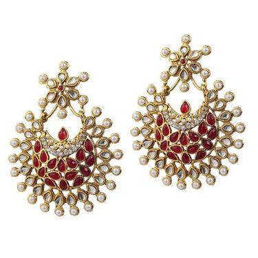 Kriaa Pearl Austrian Stone Earrings _1303761