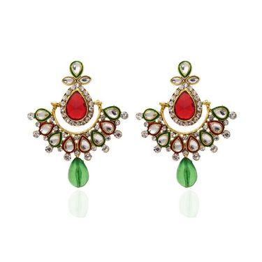 Kriaa Austrian Stone Kundan Earrings_1304811