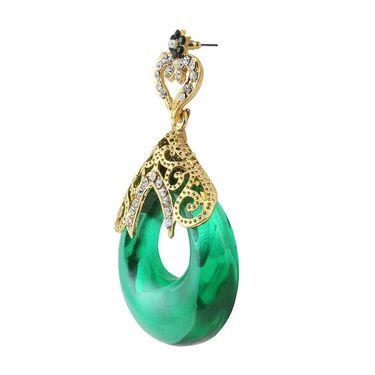 Kriaa Austrian Stone Resin  Drop Finish Earrings_1305716