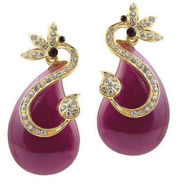 Kriaa Austrian Stone Resin Finish Earrings _1305728