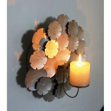 Wall Candle pillar holder - Silver1405-1525