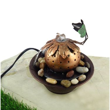 Dragonfly Metal fountain with LED light1412-0518