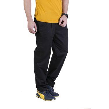 Okane Regular Fit Cotton Lowers For Men_tp16121 - Black