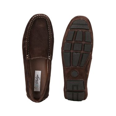 Delize Suede Leather Loafers 1751-Brown
