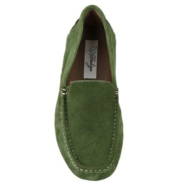 Delize Suede Leather Loafers 1751-Green