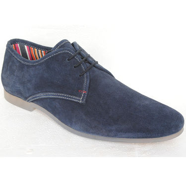 Delize Suede Leather Casual Shoes 1810-Blue